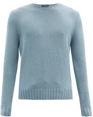 Allude Crew-neck Cashmere Sweater - Light Blue