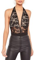 Missguided Women's Lace Halter Bodysuit