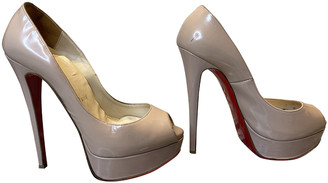 Christian Louboutin Lady Peep Beige Patent leather Heels