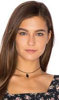 Vanessa Mooney Diamond Leather Choker in Black.