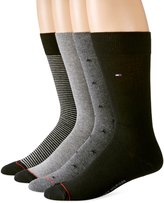 Tommy Hilfiger Men's 4 Pack Stars and Stripes Crew Socks