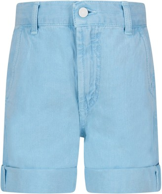 Dondup Light Bluebob Girl Short With Iconic D