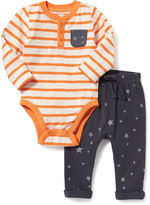 Old Navy Henley Bodysuit & Leggings Set for Baby