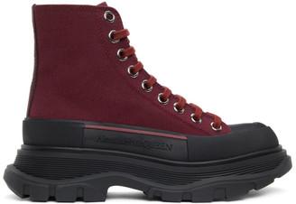 Alexander McQueen Purple Tread Slick High Sneakers