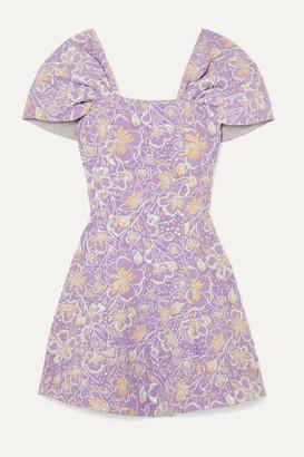 Rotate by Birger Christensen Petra Off-the-shoulder Floral-jacquard Mini Dress