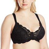 Leading Lady Women's Plus Size Padded Lace Underwire Bra
