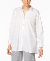 Eileen Fisher Organic Cotton-Blend Oversized Shirt