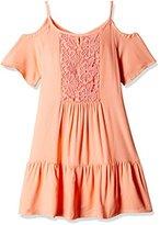 Pumpkin Patch Girl's Frill Hem Summer Dress Plain Dress