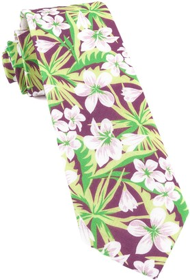 Tie Bar Tropic Of Linen Wine Tie