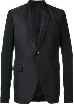Rick Owens striped contrast-sleeve blazer