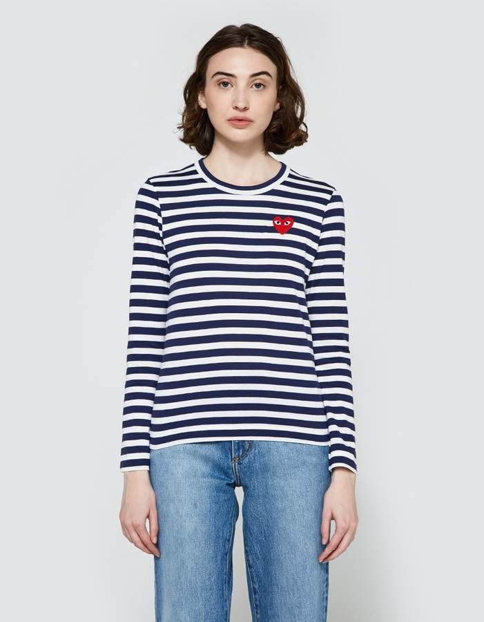 185294c4 Comme Des Garcons Play Striped Tee - ShopStyle