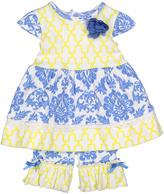 Baby Essentials Blue Damask Tunic & Capri Pants - Infant