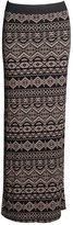 Forever Womens Tribal Print Gypsy Maxi Skirt