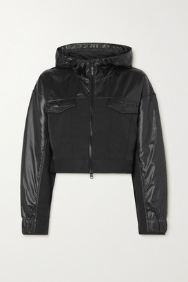 Nike City Ready Cropped Mesh-trimmed Coated-shell And Twill Jacket - Black
