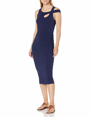 Michael Stars Women's Cross Over Strap Dress with Shirring