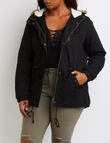 Charlotte Russe Plus Size Sherpa Lined Anorak Jacket