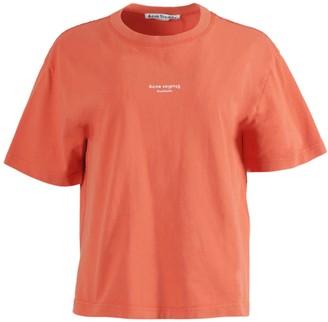 Acne Studios Boxy Contrasting Logo T-shirt Poppy Red