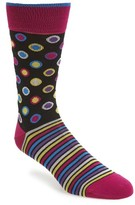 Bugatchi Men's Dot & Stripe Socks