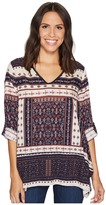 Dylan by True Grit - Recycled Cotton Prints Cassidy Tunic Women's Blouse