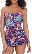 Lauren Ralph Lauren Captiva Paisley Bandeau Swim Dress
