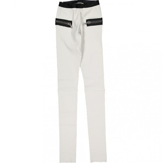 Les Chiffoniers \N White Leather Trousers