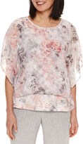 Alfred Dunner Butterfly Sleeve Blouse