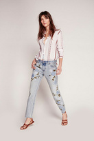 Free People Womens SHOWER ME W FLOWERS JEAN