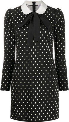 RED Valentino Peter Pan-collar polka-dot dress