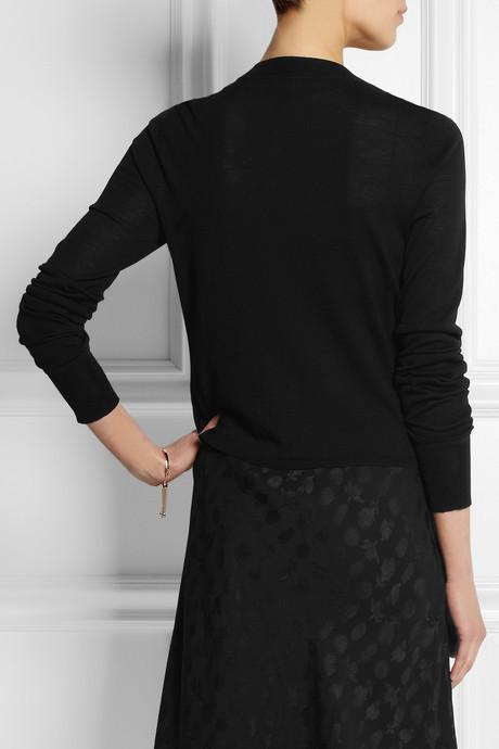 Vera Wang Fine-knit wool cardigan