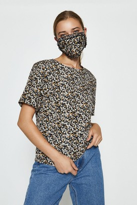 Coast Printed Woven T-Shirt And Face Covering Co-Ord Set