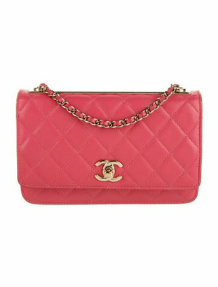 Chanel Trendy CC Wallet On Chain Coral