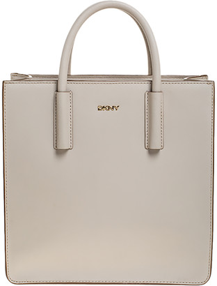 DKNY Off White Leather Book Tote