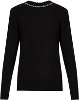 Raey Embellished ric-rac zip-back cashmere sweater