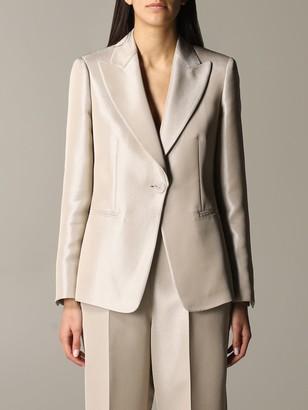 Emporio Armani Suit Jacket In Lurex Gabardine
