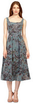 Kay Unger Floral Print Tea Length Rose Dress