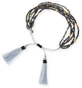Tai Multi-Strand Hematite Beaded Bracelet, Black