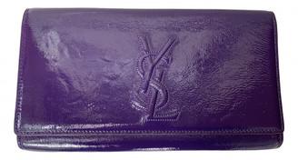 Saint Laurent Belle de Jour Purple Patent leather Clutch bags
