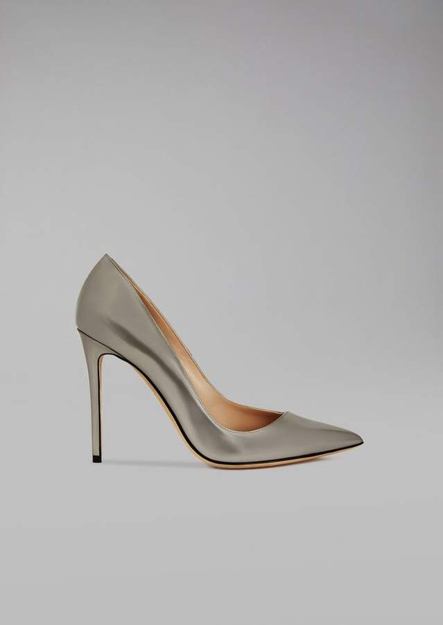 Giorgio Armani Laminated Leather Court Shoe