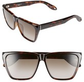 Givenchy Women's 58Mm Sunglasses - Black/ Grey Green