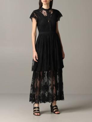 Liu Jo Long Dress In Lace