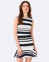 Forever New Yasmin Flippy Stripe Day Dress