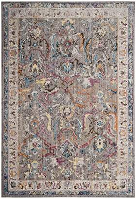 Safavieh BTL357A Myra Woven Area Rug, Polyester, Grey/Ivory, 154 x 228 x 0.25 cm