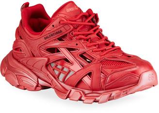 Balenciaga Men's Track 2 Tonal Faux-Leather Sneakers