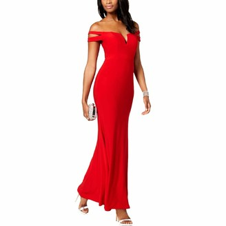 Xscape Evenings Women's Long Off The Shoulders Dress
