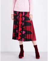 Mary Katrantzou Uni pleated satin midi skirt