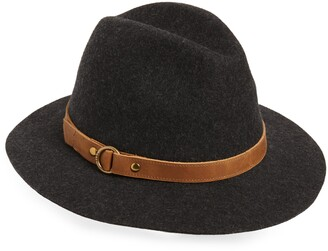 Frye Harness Tall Crown Wool Fedora
