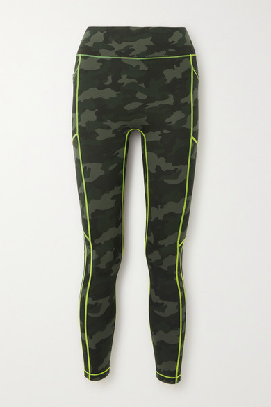 All Access Record Breaker Camouflage-print Stretch Leggings - Army green