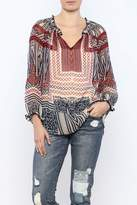Lucky Brand Ethnic Print Navy/Red