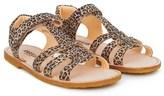 Angulus Leopard Braided Sandals