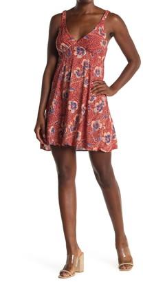 Angie Floral V-Neck Sleeveless Sun Dress
